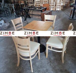 Bàn ghế cafe trụ tròn