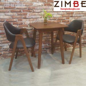Bàn ghế cafe chân gỗ