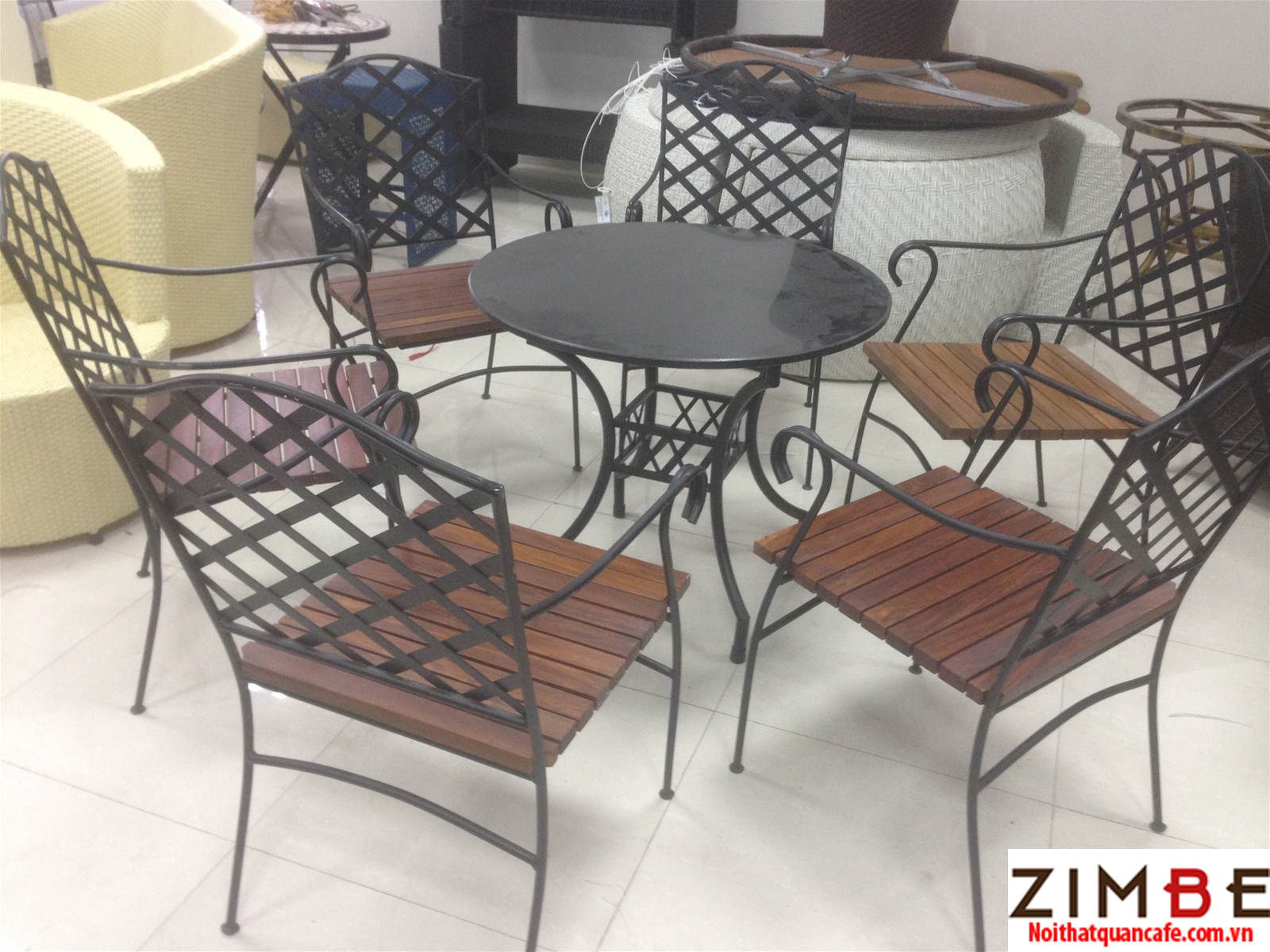 Bàn ghế sắt cafe cổ điển 16 – Hotline : 0972075902 – 0943649130