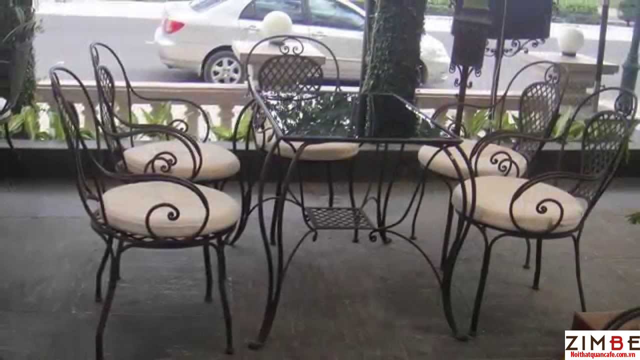 Bàn ghế sắt cafe cổ điển 02 – Hotline : 0972075902 – 0943649130
