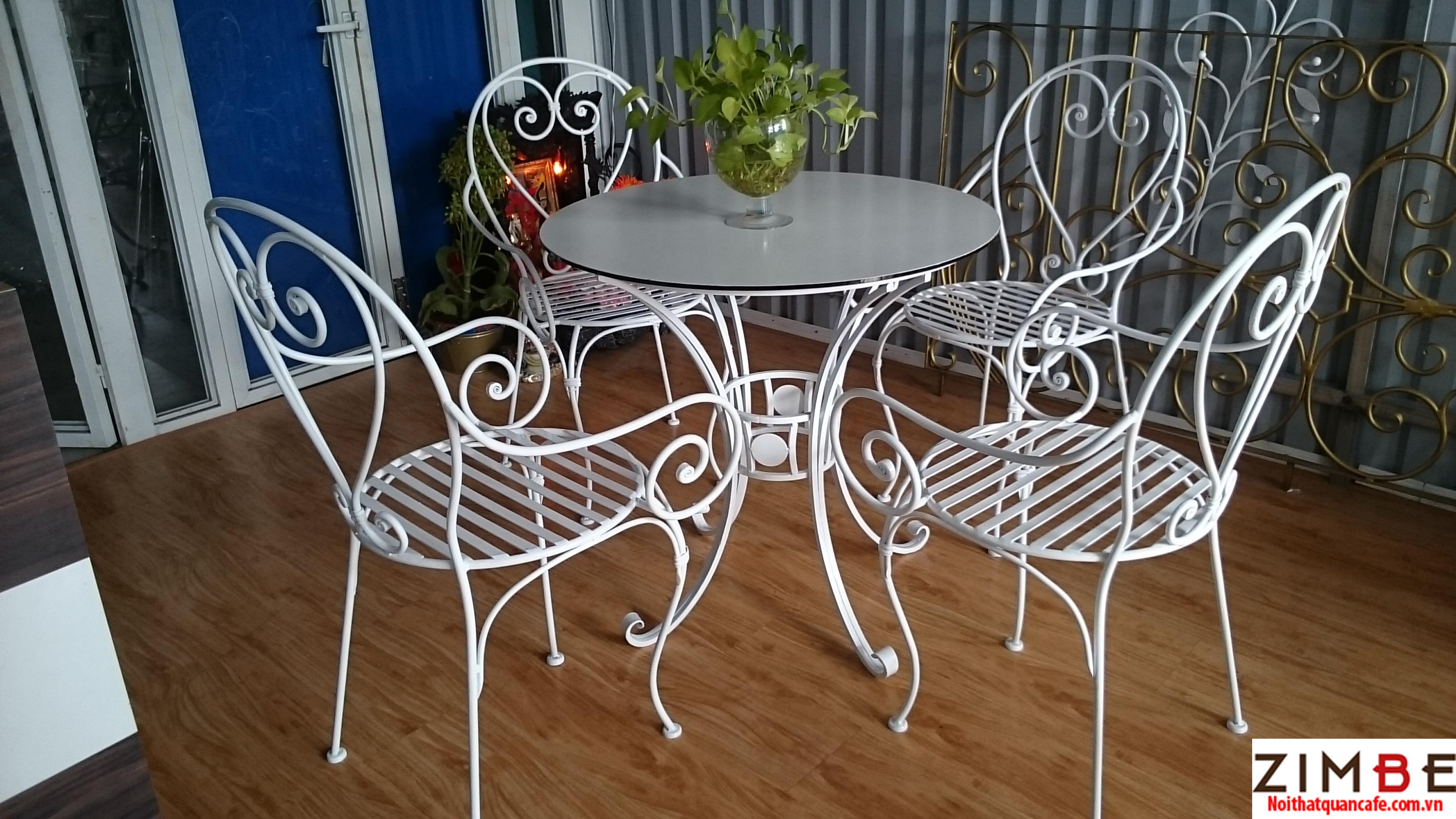 Bàn ghế sắt cafe cổ điển 11 – Hotline : 0972075902 – 0943649130