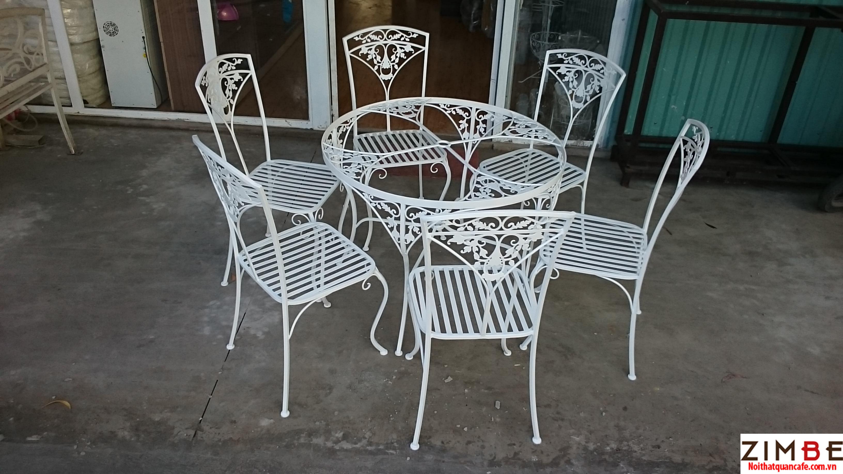 Bàn ghế sắt cafe cổ điển 12 – Hotline : 0972075902 – 0943649130