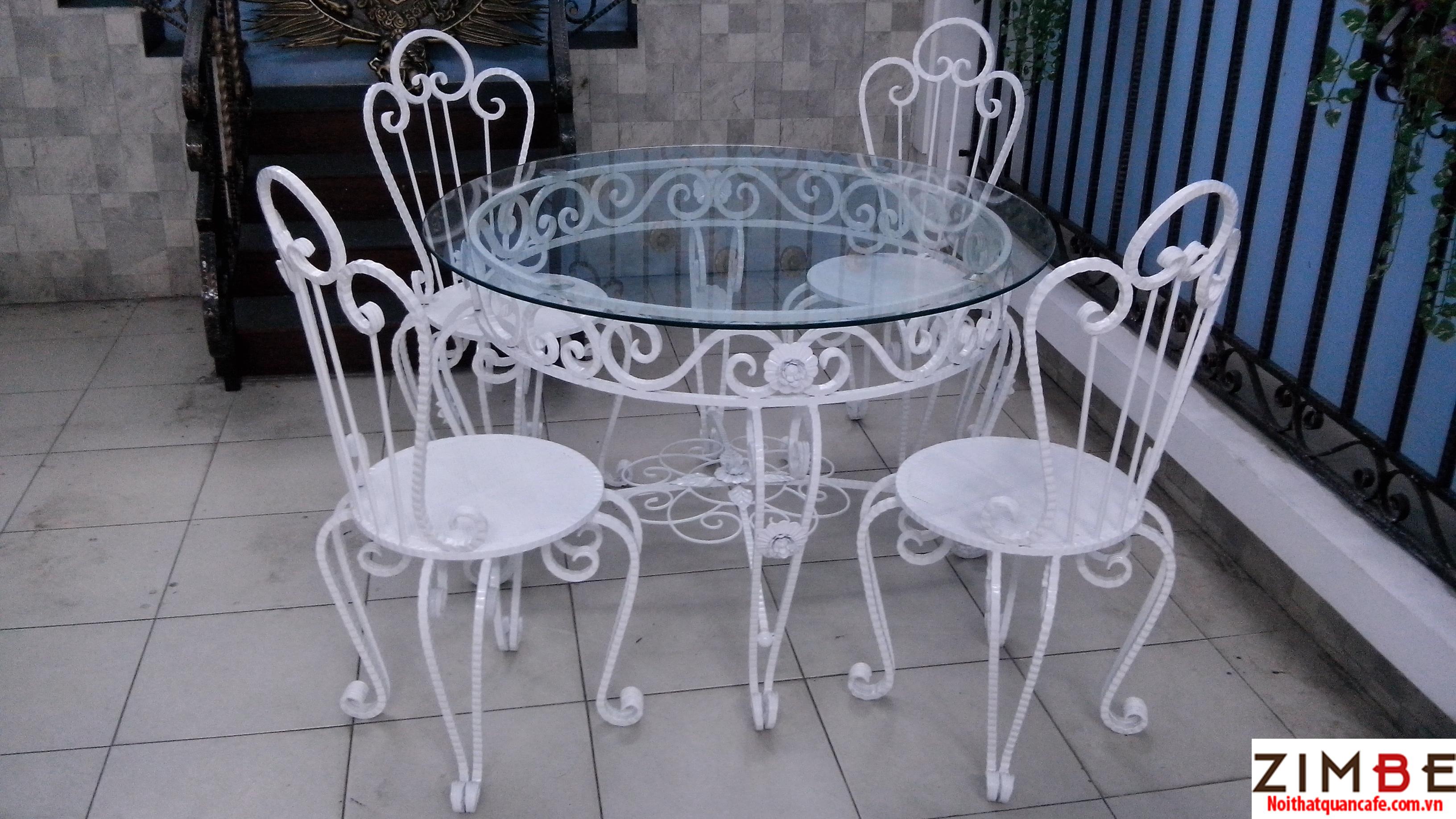 Bàn ghế sắt cafe cổ điển 13 – Hotline : 0972075902 – 0943649130