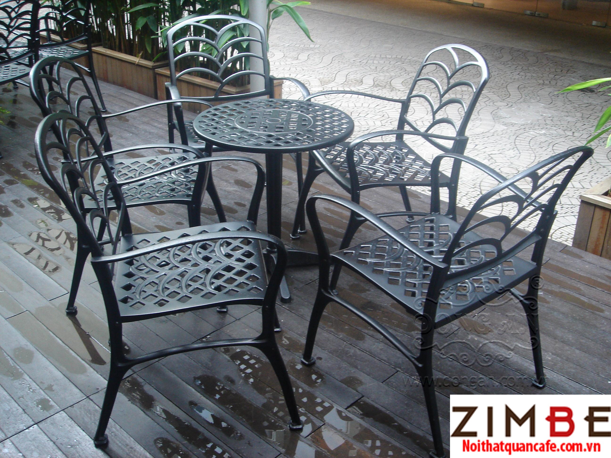 Bàn ghế sắt cafe cổ điển 14 – Hotline : 0972075902 – 0943649130