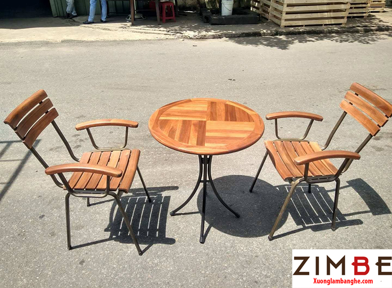 Bàn cafe gỗ ngoài trời 08 – Hotline : 0972075902 – 0943649130