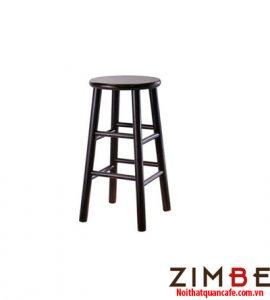 Ghế bar chân gỗ không có tựa