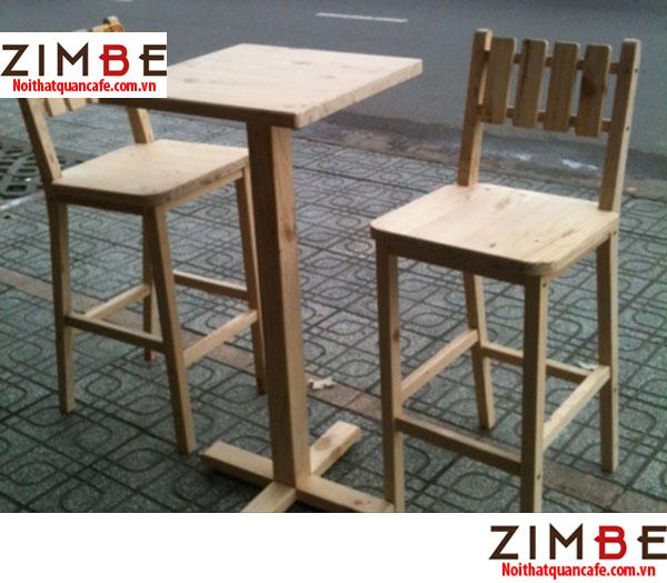 Ghế bar chân gỗ có tựa 04 - Hotline : 0972075902 – 0943649130