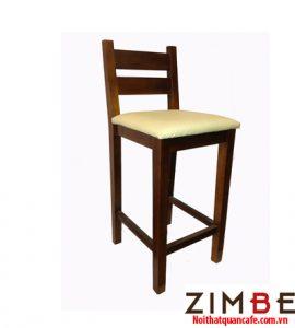 Ghế bar chân gỗ có tựa