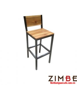 Ghế bar chân sắt có tựa