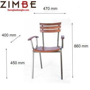 Ghế gỗ cafe cóc Zimmoon