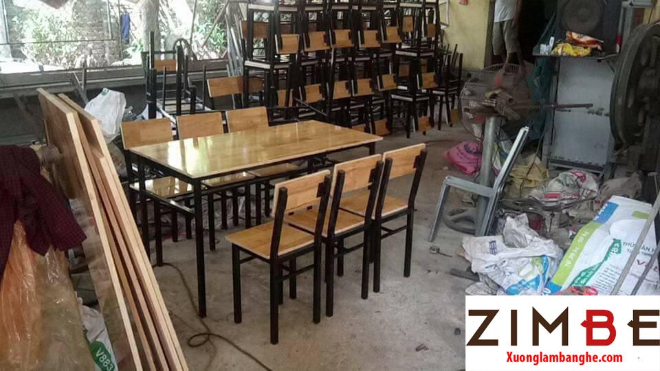 Bàn ghế cafe gỗ thông 06 - 0972075902