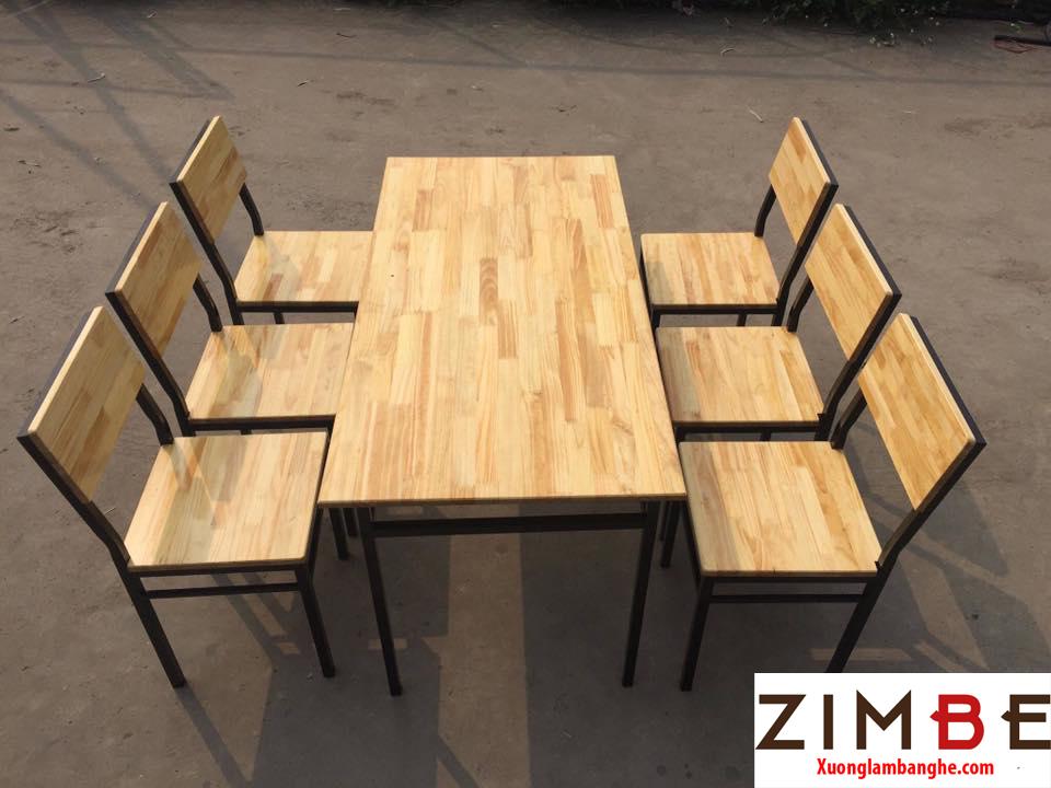Bàn ghế cafe gỗ thông 02 - 0972075902