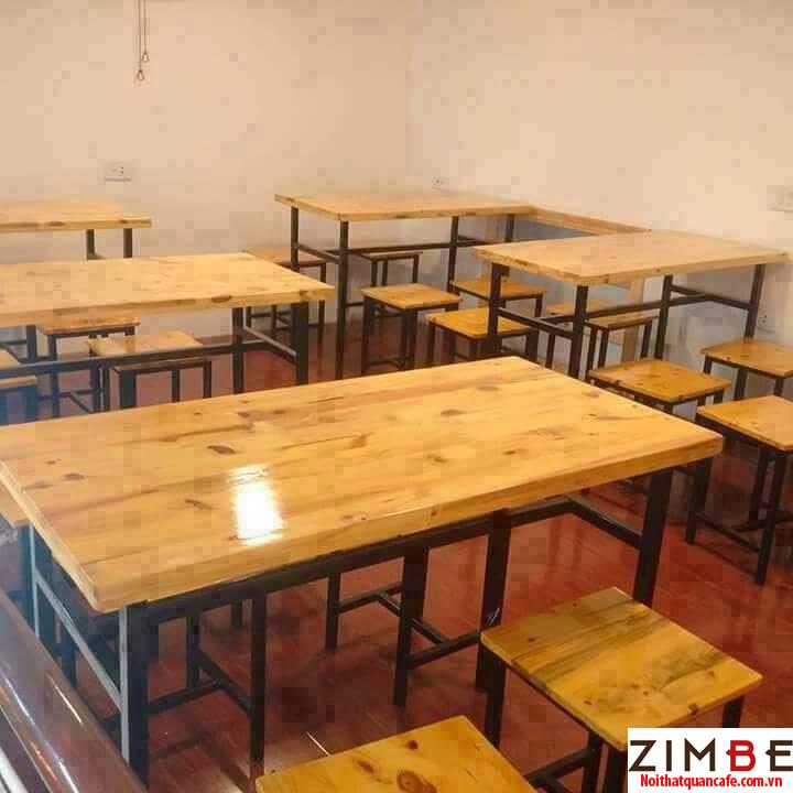 Bàn ghế cafe gỗ thông 09 - 0972075902