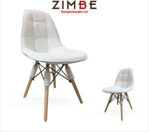 Ghế nhựa eames chân gỗ