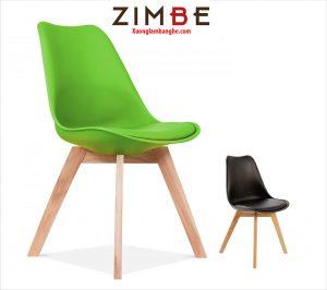 Ghế eames chân gỗ có đệm