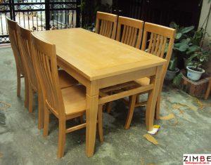 Bàn ghế nhà hàng gỗ xoan