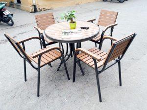 Bàn ghế ngoài trời nhựa composite
