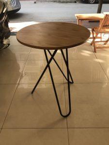 Bàn cafe chân chéo mặt tròn DK60