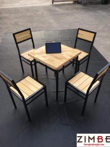 Bàn cafe chân hộp vuông 60×60