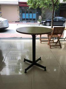 Bàn cafe chân tròn mặt tròn DK60