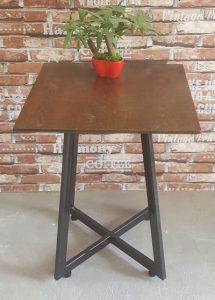 Bàn cafe vuông chân sắt 60×60