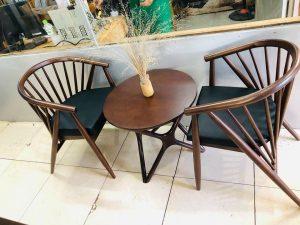 Bàn ghế gỗ cafe 12 nan