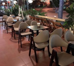 Bộ bàn ghế cafe chữ A siêu đẹp