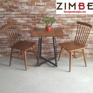 Bàn ghế cafe Zimrio kiểu dáng thon gọn