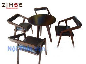 Bàn ghế gỗ cafe Zimtanaa