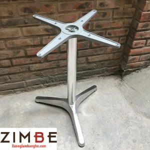 Chân bàn inox 3 cạnh hình chữ Y