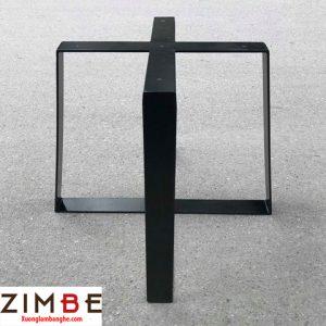 Chân bàn sắt lồng hình chữ nhật