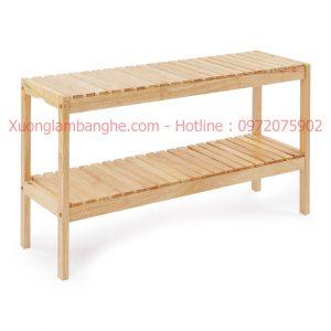 Kệ gỗ đa năng dài 80cm 2 tầng
