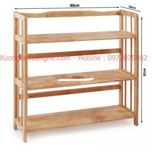Kệ sách bằng gỗ 3 tầng 90cm