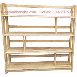 Kệ sách bằng gỗ 4 tầng 1m2