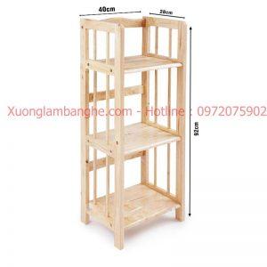 Kệ sách bằng gỗ 3 tầng 40cm